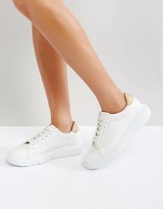 Массивные кроссовки на шнуровке ASOS DUAL - Белый
