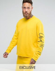 Свитшот с принтом на рукаве Cheap Monday Victory Now - Желтый