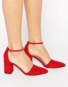 Туфли на блочном каблуке Truffle Collection - Красный