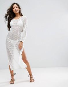 Пляжное платье макси Fashion Union - Белый