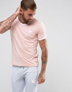 Розовая обтягивающая футболка с контрастной отделкой Good For Nothing - Розовый