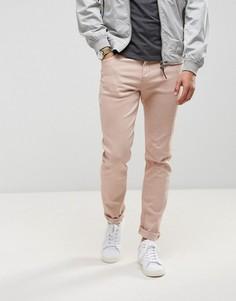 Нежно-розовые облегающие джинсы LDN DNM - Розовый