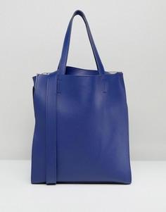 Большая сумка-тоут без подкладки Claudia Canova - Красный