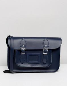 Классический портфель Leather Satchel Company 12.5 - Темно-синий