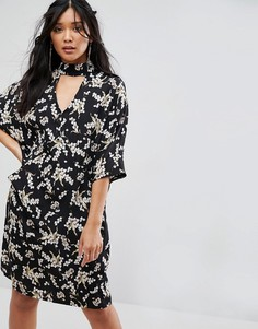Оверсайз-платье миди с цветочным принтом Liquorish - Мульти