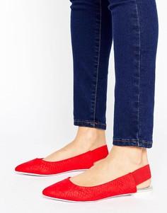 Туфли с острым носком и ремешком через пятку ALDO - Красный