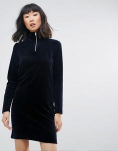 Платье с высоким воротом Moss Copenhagen - Темно-синий