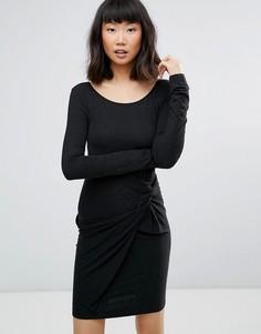 Платье с узлом спереди Moss Copenhagen - Черный