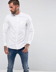 Белая эластичная оксфордская рубашка узкого кроя с воротником-стойкой Original Penguin - Белый
