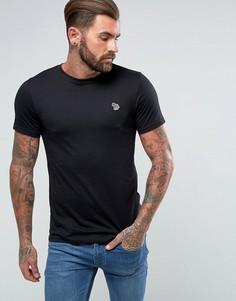 Черная узкая футболка с логотипом PS by Paul Smith - Черный