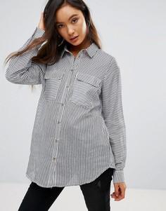 Полосатая рубашка из шелковой смеси Gestuz Bista - Синий