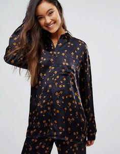 Рубашка с цветочным принтом Gestuz Stella - Темно-синий