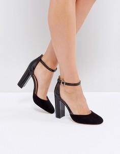 Туфли на каблуке с ремешком на щиколотке London Rebel - Черный