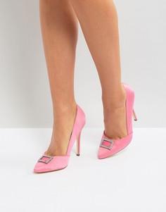 Туфли на каблуке с острым носом London Rebel - Розовый