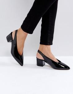 Туфли на среднем каблуке с ремешком через пятку Truffle Collection High Topline - Черный