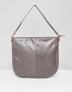 Кожаная сумка-седло со съемным ремешком Urbancode - Серый