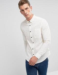Рубашка слим с пестрым принтом Only & Sons - Белый