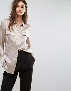 Шелковая рубашка Gestuz Effie - Кремовый