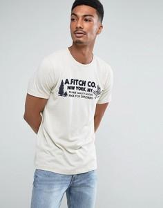 Светло-коричневая футболка узкого кроя с логотипом Abercrombie & Fitch - Коричневый