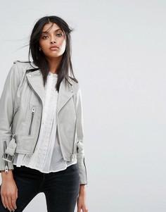 Кожаная куртка AllSaints Lewin Balfern - Серый