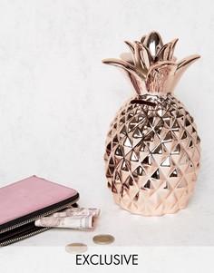 Копилка в форме ананаса цвета розового золота эксклюзивно для Sass & Belle - Медный