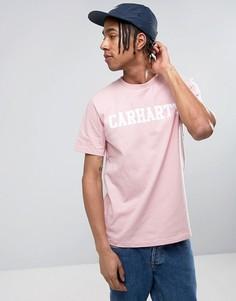 Футболка классического кроя Carhartt WIP College - Розовый