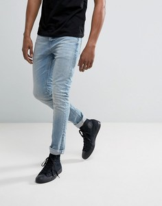 Выбеленные джинсы скинни Allsaints - Синий