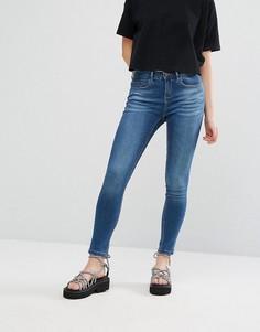 Укороченные джинсы скинни с заниженной талией Waven Freya - Синий