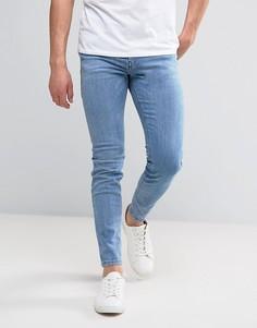 Светлые джинсы скинни Diesel Stickker 084DA - Синий