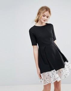 Платье с цветочной вышивкой Traffic People - Черный