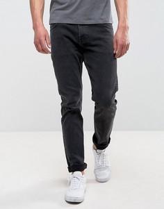 Черные выбеленные эластичные джинсы узкого кроя Weekday Wednesday - Черный