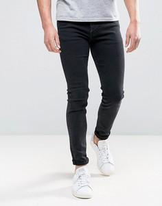 Черные супероблегающие джинсы Weekday - Серый