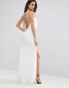 Платье макси с разрезом до бедра Forever Unique - Белый