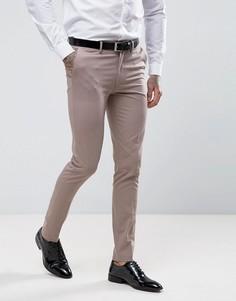 Розовые зауженные брюки под смокинг ASOS - Светло-серый