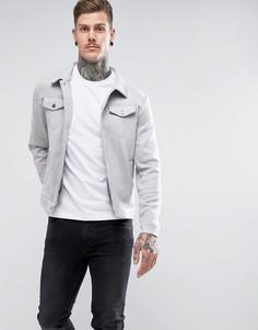 Куртка из искусственной замши Another Influence - Серый