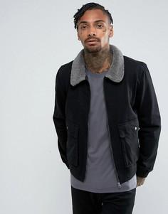 Джинсовая куртка на молнии с воротником борг Another Influence - Черный