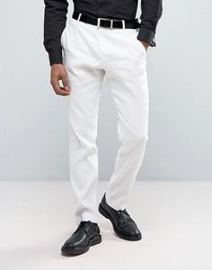Узкие льняные брюки Selected Homme - Белый