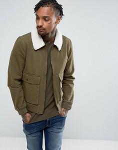 Джинсовая куртка на молнии с воротником борг Another Influence - Зеленый