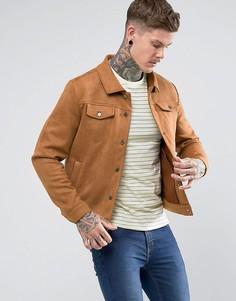 Куртка из искусственной замши Another Influence - Рыжий