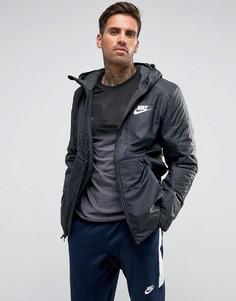 Черная куртка с флисовой подкладкой Nike 861788-010 - Черный