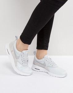 Серые премиум-кроссовки с эффектом змеиной кожи Nike Air Max Thea - Серый