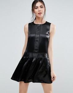Цельнокройное платье цвета металлик Endless Rose - Черный