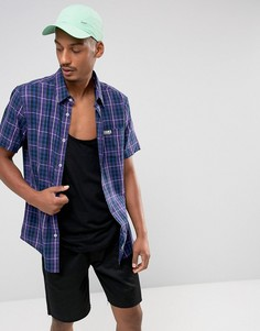 Рубашка в клетку с короткими рукавами UCLA Joel - Темно-синий