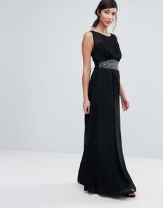 Платье-трапеция макси Little Mistress - Черный