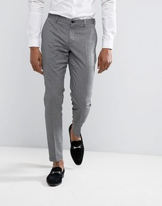 Строгие эластичные брюки скинни Selected Homme - Серый