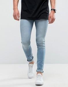 Голубые супероблегающие джинсы Loyalty and Faith - Синий