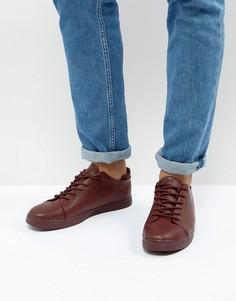 Бордовые кроссовки на шнуровке ASOS - Красный
