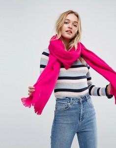 Розовый длинный мягкий шарф ASOS - Розовый