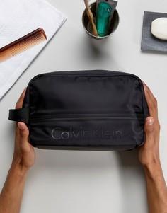 Несессер с логотипом Calvin Klein Matthew - Черный