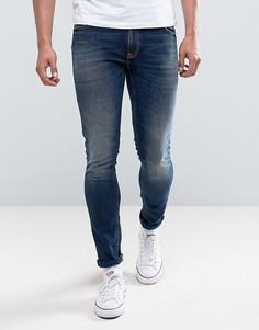 Темно-синие джинсы скинни Nudie Jeans Co Lin Jean - Синий